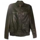 Куртка под кожу демисезонная черная