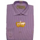 Рубашка в полоску сиреневая