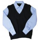 Обманка жилет с голубой рубашкой
