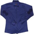 Рубашка синяя нарядная