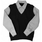 Обманка черный жилет серая рубашка