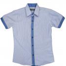 Рубашка в полоску короткий рукав