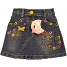 Юбка джинсовая Цветные кнопки