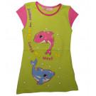 Трикотажное платье дельфин