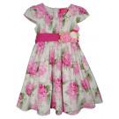 Платье розовые цветы
