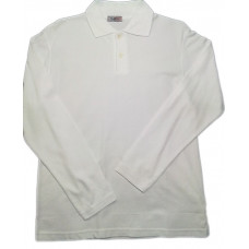 6c122029d4f7 Рубашка поло белая длинный рукав